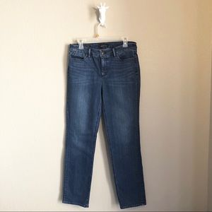 Talbots Straight Leg Denim Blue Jeans Size 8